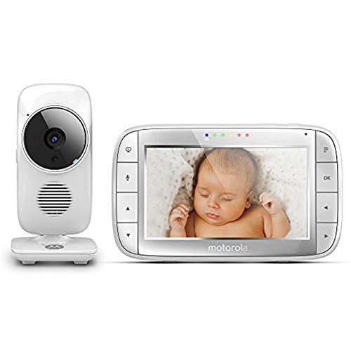 Motorola: Video-Babyphone, 5,0 Zoll Farbdisplay, Nachtsicht, 300m Reichweite