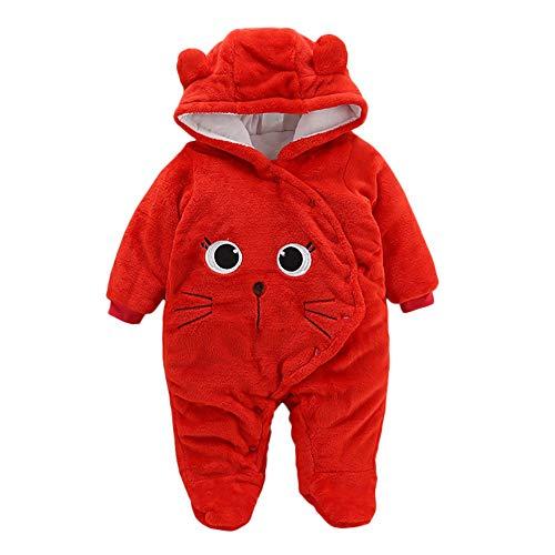 Proumy ◕ˇ∀ˇ◕ Baby Kleidung Jungen Mädchen Winter Fleece Overall Mit Kapuze Mädchen Jungen...