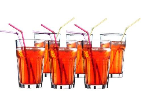 IKEA 6-er Set Gläser POKAL stapelbares Glas für Cocktail Longdrink Tee Kaffee Wasser - 350ml - 14cm hoch -...