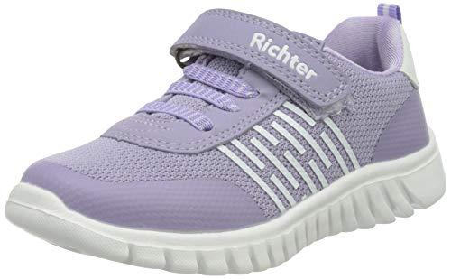 Richter Kinderschuhe Wallaby Sneaker, Lavender/White, 23 EU