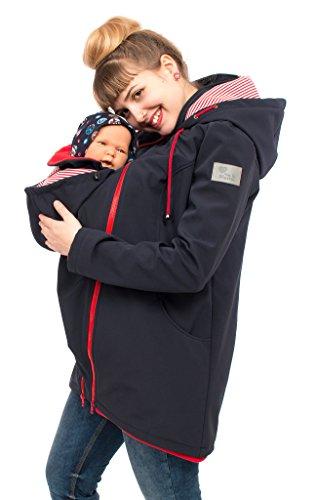 Viva la Mama Umstandsjacke mit Baby Trageeinsatz Regenjacke Windjacke Babytragen Softshell Jacke Baby im...