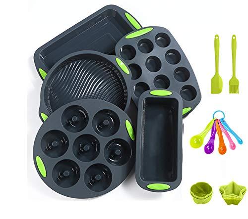 readleaf 18 Stück Silikon-Antihaft-Backform Silikon-Backgeschirr-Backset Antihaft-Backform, BPA-frei,...