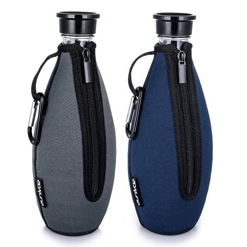 Sovinus 2-er Pack Schutzhülle für SodaStream Crystal Glaskaraffe, Bruchschutz Neopren Hülle für...