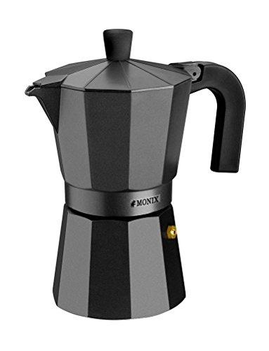 Monix Vitro Noir Espressokocher aus Aluminium 12 tassen