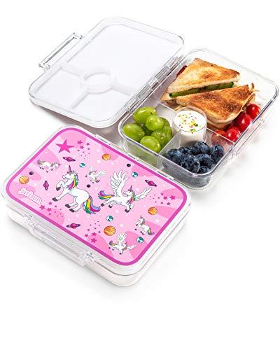 Jarlson® Brotdose für Kinder mit 4 Fächern - Lunchbox aus Tritan - Bento Box auslaufsicher – Jausenbox...