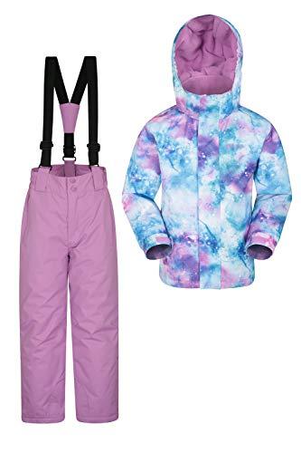 Mountain Warehouse Kinder-Skijacke- und Hosen-Set - Schneesicher, Vordertaschen, Fleece gefüttert,...