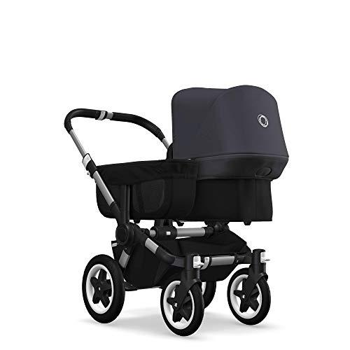 Bugaboo Donkey 2 Mono, Erweiterbarer 2-in-1 Erstlings- und Kinderwagen, Schwarz/Steel Blue