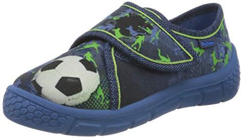 Richter Kinderschuhe Jungen Niedrige Hausschuhe, Blau (Nautical (Soccer) 6820), 26 EU