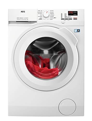 AEG L6FBA474 Waschmaschine Frontlader / 171,0 kWh/Jahr / Waschautomat mit Mengenautomatik / Schutz für edle...