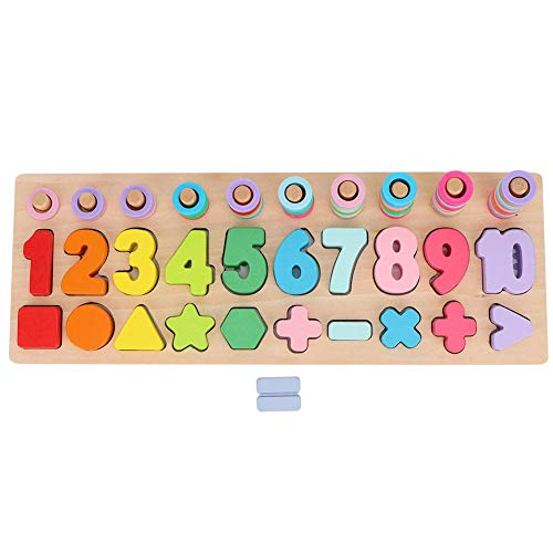 Math Zahlen Spielzeug bunte Holz Zahlenformspielzeug pädagogisches Lernen Mathematik Stapeln Block Lernen...