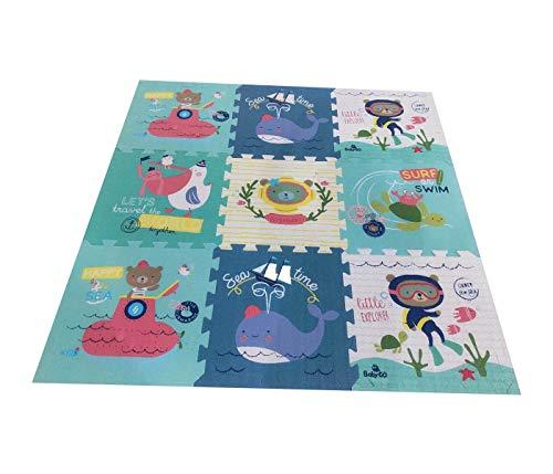 Babify 8436579231316 Toy Planet Puzzlematte, Dicke 2 cm, rutschfest, extra groß, wendbar, wasserdicht,...