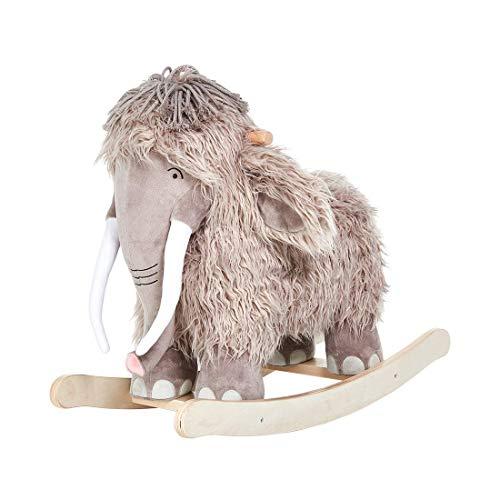 labebe Baby Plüsch Schaukelpferd Holz Schaukeltier Mammut Kinder Schaukelspielzeug Kleinkind Spielzeug...