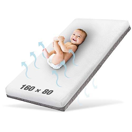 Ehrenkind® Kindermatratze Royal   Baby Matratze 80x160   Babymatratze 80x160 mit innovativem 3D Mesh und...