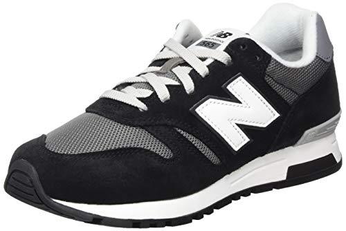 New Balance Herren 565 Sneaker Lauflernschuhe, Schwarz (Black/White), 45 EU