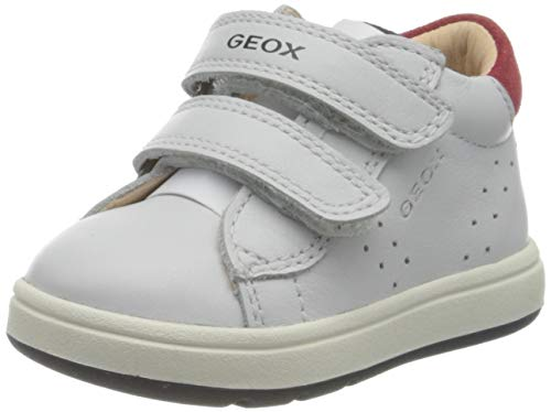 Geox Baby-Jungen B BIGLIA Boy D First Walker Shoe, Mehrfarbig (White/Navy), 26 EU