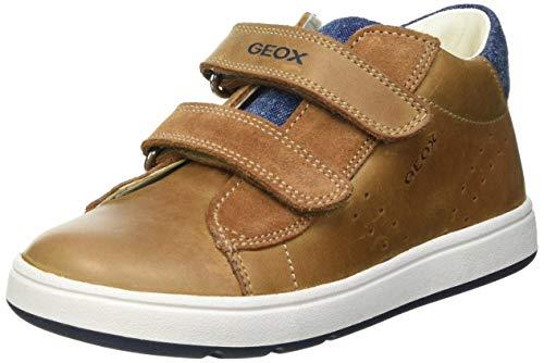 Geox Baby-Jungen B BIGLIA Boy D First Walker Shoe, Caramel/Navy, 23 EU