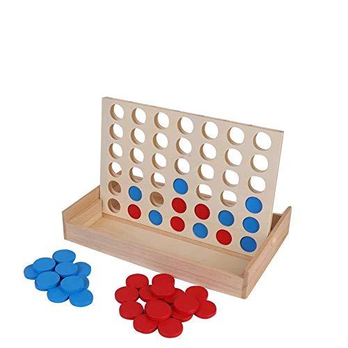 4 in Einer Reihe Kind Spiel Kinder Pädagogisches Brettspiel Spielzeug Holzspiel für ganze Familie