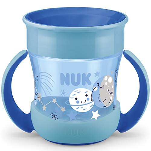 NUK Mini Magic Cup Night Trinklernbecher | auslaufsicherer 360°-Trinkrand | ab 6Monaten | mit Leuchteffekt...