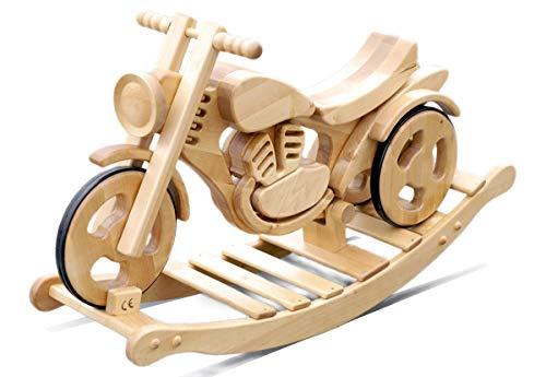 Schaukel-Motorrad Holzmotorrad Schaukelspielzeug Schaukel-Pferd Massivholz Garten Spielzeug Kinderspielzeug |...