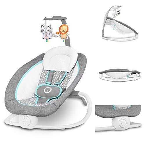 Lionelo Pascal Baby Wippe sanfte Vibrationen 5 Melodien Spielzeugkarussell mit interaktiven Plüschtieren...