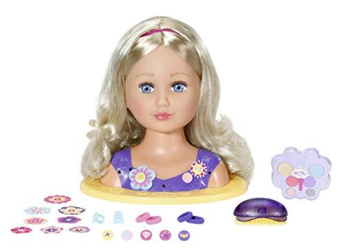 Zapf Creation 828694 BABY born Sister Styling Head 2-in-1 Frisierpuppe und Schminkkopf, hochwertige Haare,...