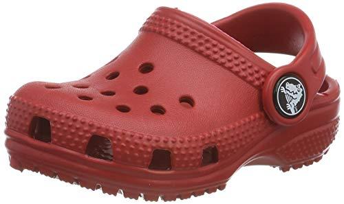 crocs Unisex-Kinder Classic Kids Clogs, Rot (Pepper 6En), 23/24 EU