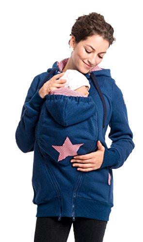 Viva la Mama Sweatjacke für Babytragen Jacke mit Trageeinsatz Jacke schwanger Tragepullover Sweat...