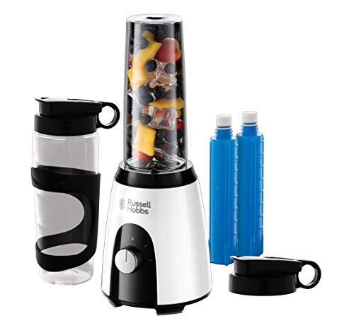 Russell Hobbs Mixer & Go Standmixer (400 Watt, 23.000 U/min, inkl. Kühlakkus, 2 BPA-freie &...