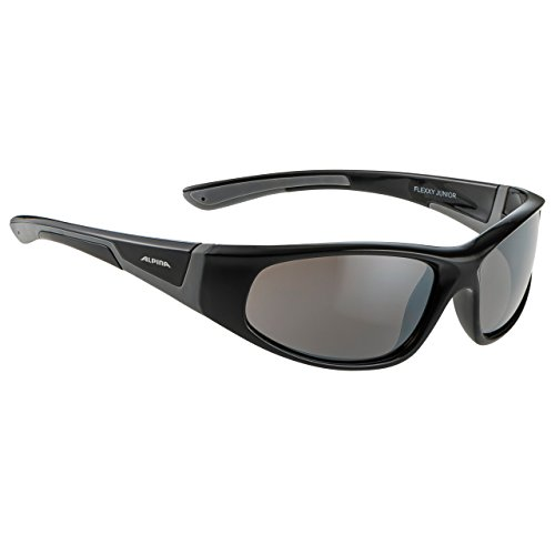 ALPINA FLEXXY JUNIOR Sportbrille, Kinder, black-grey, one size