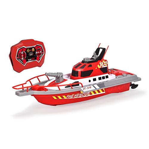Dickie Toys – Feuerwehrboot – ferngesteuertes Boot für Kinder ab 6 Jahren, mit Wasserspritzfunktion und...