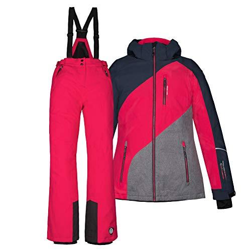 Killtec Kinder Skianzug Größe 176 Schneeanzug 2 TLG. Skijacke + Skihose - dunkelnavy pink - Winddicht...