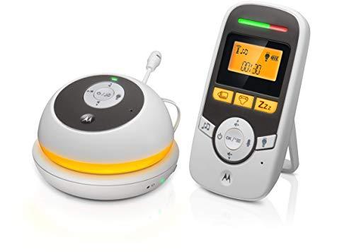 Motorola MBP169 - Tragbare Babyphone Audio mit Display 1.5 Zoll und Babypflege-Timer – Weiß