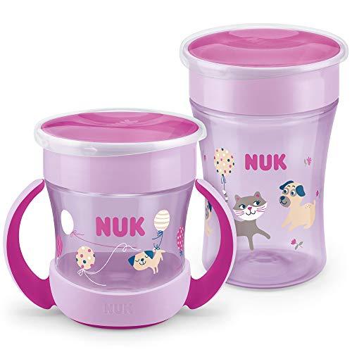 NUK Magic Cup Trinklernbecher Duo Set | Magic Cup 230ml + Mini Magic Cup 160ml mit Ergonomische Griffe |...