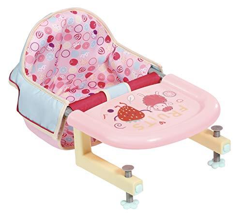 Zapf Creation 703168 Baby Annabell Lunch Time Füttersitz, leicht anzubringender Puppen Tischsitz,...