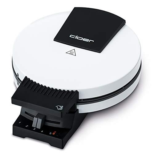 Cloer 181 Waffelautomat für kuchenartige Waffeln / 930 W/Waffelgröße 16 cm/schwere Backplatten/optische und...