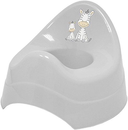 Bieco Töpfchen für Kinder mit Musik grau, mit Zebra Motiv, Ab 8 Monate WC/Klo Kinder-Toilette, Potty,...