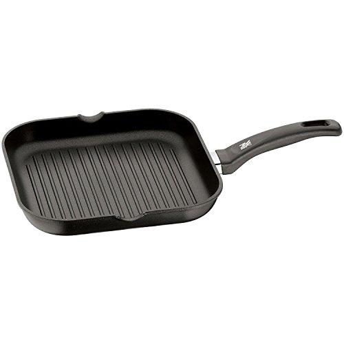 WMF Grillpfanne 27x27 cm, mit Ausguss, Aluminium beschichtet, Bratpfanne ideal zum knusprigen Braten, eckige...