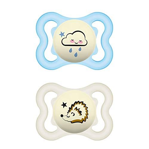 MAM Supreme Night Schnuller im 2er-Set, leuchtender Babyschnuller für eine gesunde Zahn- und...