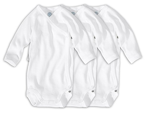 Sanetta Unisex Wickelbody Langarm Organic Cotton im 3er Pack 302300 Gr.50