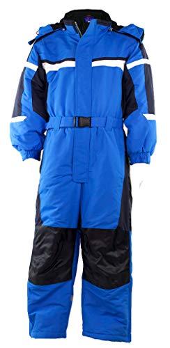 Fortuna F. Schneeanzug Overall Winteranzug Skianzug SKIOVERALL Winter Schnee Kinder 116-140 M33 (122, blau)