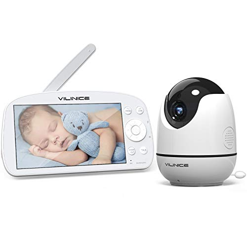 5,5 Zoll Babyphone mit Kamera, VILINICE 720P HD Video Baby Monitor Wireless, VOX, Nachtsicht,...