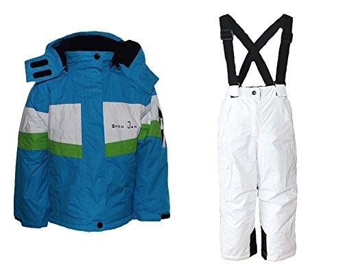 Alive Mädchen Skianzug Skihose Skijacke Snowboardhose Snowboardjackre Schneehose Türkis/Weiß 134/140