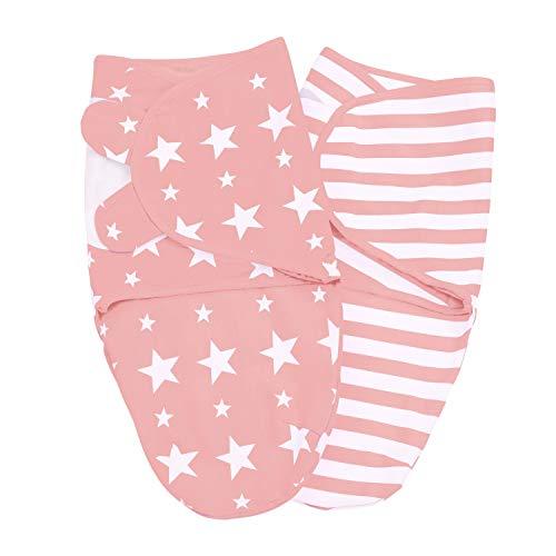 Lilly and Ben® Pucksack 2er Set I Baumwoll-Puckdecke in S/M (0-3 Monate) oder L (3-5 Monate) I Baby mühelos...