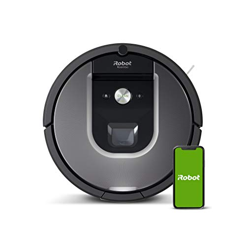 iRobot Roomba 960 Saugroboter mit starker Saugkraft, 2 Multibodenbürsten, Navigation für mehrere Räume,...