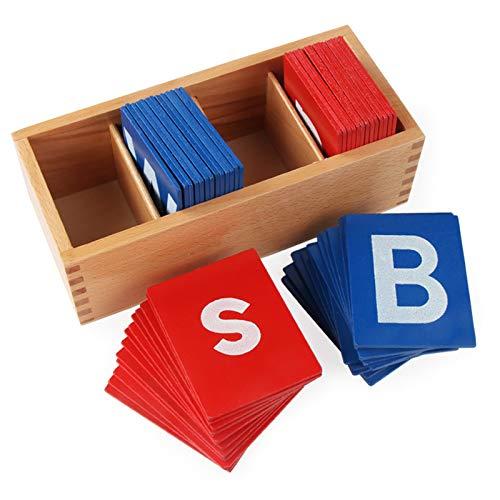 Amiispe: Montessori Sandpapier-Buchstaben-Kasten