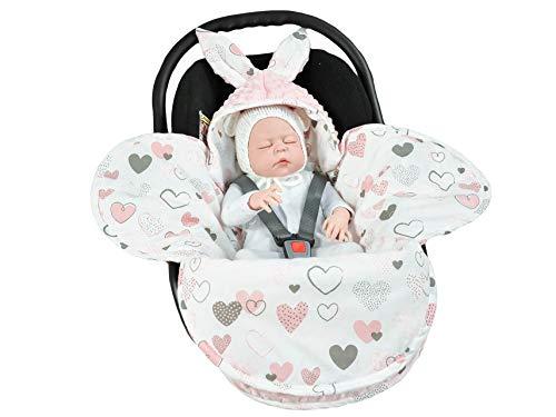 EliMeli Baby Einschlagdecke Babyschale Winter - Rosa Mädchen Decke Universal für Autositz, Kinderwagen...