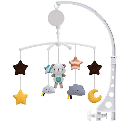 SaiXuan Baby Musical Cot Mobile, Musik Mobile Baby Design Universal Nursery Baby Cot Bed Mobile Cute Music...