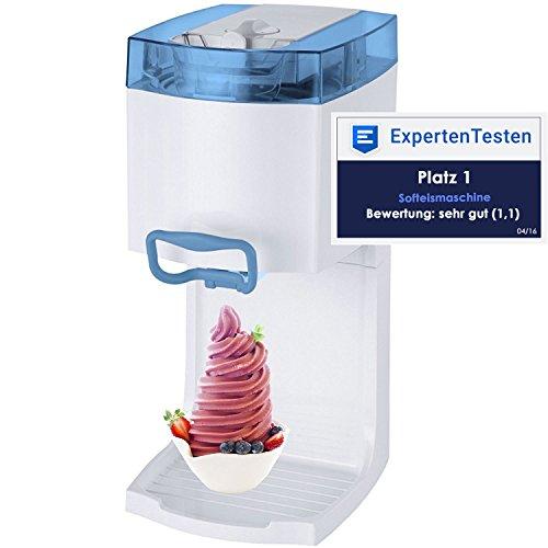 Gino Gelati GG-50W-A Blue 4in1 Softeismaschine, Eismaschine, Frozen Yogurt-Milchshake Maschine,...