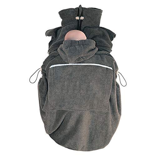 Hoppediz Fleece Cover f. Babytrage Bauchtrage Tragetuch Anthrazit