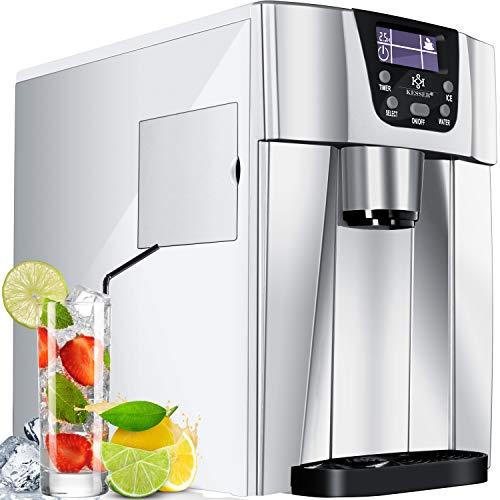 KESSER® Eiswürfelbereiter | Eiswürfelmaschine Edelstahl | 100W Ice Maker | 12 kg 24 h | 2 Würfelgrößen |...